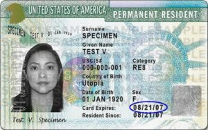 Sample I-551 from USCIS website